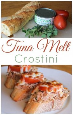 Tuna Melt Crostini for an easy and nutritious appetizer or snack from Clever Housewife.