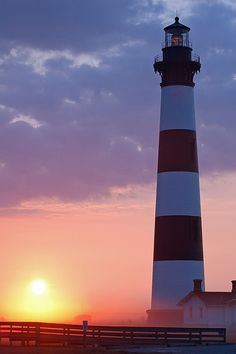 We love this shot of the Bodie Island Lighthouse at sunrise.