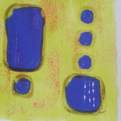 Red, yellow and blue. Abstract art.  Acrylics and ink.  By #ronabars