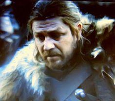 Oil painting of Ned Stark