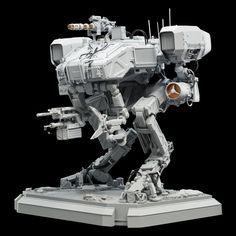 Weta Workshop | Chappie: Moose Resin Kit - Weta Workshop Combat Robot, Hard Surface Modeling, Model Maker, Pre Production, Sci Fi Characters, Space Crafts, Armored Vehicles, Plastic Models, Moose