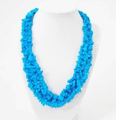 ABO Enterprises Turquoise Color Cluster Necklace