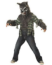 Kids Howling at the Moon Gray Wolf Costume