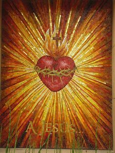 Sacred Heart of Jesus. How would you like to have this in your room? Catholic Art, Religious Art, Sagrado Corazon Tattoo, Croix Christ, Sacred Heart Tattoos, Jesus E Maria, Vintage Holy Cards, Jesus Art, Biblical Art