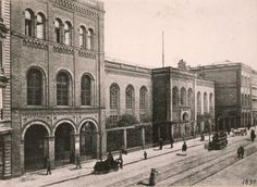 ca 1865 Die erste staedtische Turnhalle in Berlin (Prinzenstrasse Nr 70)