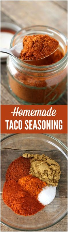 eat Mexican food a lot. I mean A LOT! And this homemade taco seasoning is a crucial ingredient in … Read More →We eat Mexican food a lot. I mean A LOT! And this homemade taco seasoning is a crucial ingredient in … Read More → Homemade Spices, Homemade Taco Seasoning, Homemade Tacos, Seasoning Mixes, Mexican Seasoning, Mexican Cooking, Mexican Food Recipes, Vegetarian Mexican, Burritos