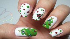 Unghie natalizie 2014: 20 Idee da copiare per stupire con le Mani unghie natalizie 2014 pino