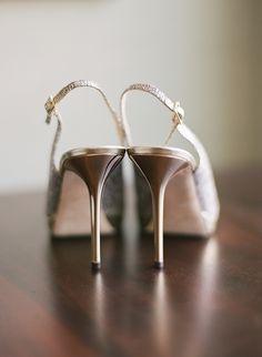 Classic metallic wedding gold bridal shoes; Photography : Robert And Kathleen Photographers Read More on SMP: http://www.stylemepretty.com/pennsylvania-weddings/philadelphia/2016/02/05/philadelphia-greenhouse-wedding/