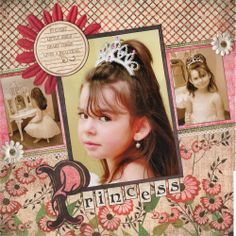 Princess - Scrapbook.com....want to do this type of page for my bridal pics