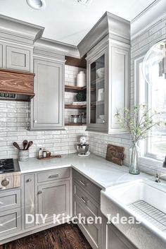 Diy Kitchen Timeless Design Ideas #kitchen Best Kitchen Cabinets, Kitchen Cabinet Design, New Kitchen, Kitchen Countertops, Soapstone Kitchen, Kitchen Walls, Kitchen Backsplash, 10x10 Kitchen, Painted Countertops