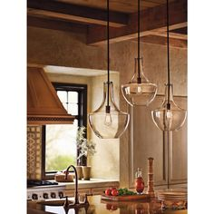 Kichler Lighting Everly Collection 1-light Olde Bronze Pendant | Overstock.com Shopping - The Best Deals on Chandeliers & Pendants