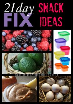 21 Day Fix Snack Ideas. My favorite clean eating snacks! Need one-on-one coaching? Contact me at http://sublimereflection.com