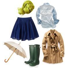 rainy day outfit girly style!