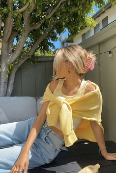 Urban Outfitters Outfit, Mode Outfits, Girl Outfits, Fashion Outfits, Yellow Outfits, Yellow Clothes, Insta Outfits, Beach Outfits, Grunge Outfits