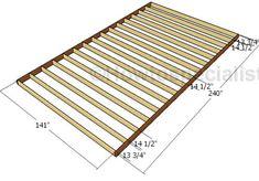 12x20 Shed Plans, Diy Shed Plans, Barn Plans, Bench Plans, Garage Plans, Garage Ideas, Shed Frame, Free Shed, Shed Floor