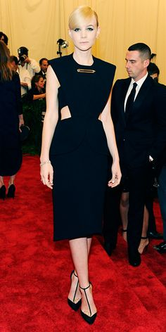 Carey Mulligan in Balenciaga and Tiffany & Co. jewelry.