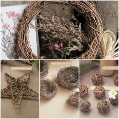 DIY Christmas Wreaths Many shapes and sizes to choose from. Christmas Diy, Christmas Wreaths, Flower Garlands, Grapevine Wreath, Grape Vines, Rattan, English, Shapes, Flowers