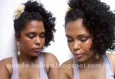 Penteado para cabelos cacheados curtos