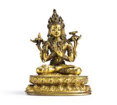 15th century circa, Tibet, Prajnaparamita, gilt copper alloy, private collection, photo by Sotheby's.