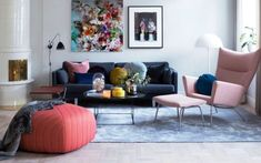 How to Make Cozy Living Room with Colorful Pastel Color Style Pastel Living Room, Cozy Living Rooms, Living Room Chairs, Living Room Interior, Home Living Room, Living Room Decor, Room Paint Colors, Paint Colors For Living Room, Sofa Design