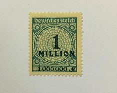 Two Weimar Republic German Empire Stamps; Overprinted 2 Millionen on 200 Mark; XF, N/H, Original Gum; Old Stamps, Rare Stamps, Vintage Stamps, Stamp Values, German Stamps, Price Of Stamps, Stamp Catalogue, Number Stamps, Wall Maps