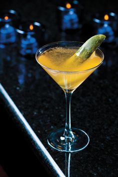 I am down with any version of a dirty martini, especially one with a name like the Hot n' Dirty Pickle ;) Another pinner says: Hot 'n' Dirty at the Blue Ox