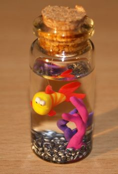 aquarium in a small bottle