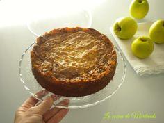 Pastel de manzana con crujiente de nuez