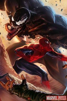 Spider-Man vs. Venom by Marko Djurdjevic