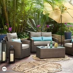 Woodfield Outdoor Furniture 3 Pc. Patio Sectional And Cocktail Table   Value  City Furniture | Outdoor Design | Pinterest | City Furniture, ...