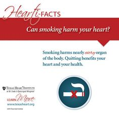 Can smoking harm your heart? An infographic for Heart Month.