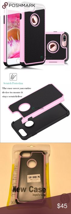 Iphone 7 case ❤️️ This Dual Layer hybrid Defender Armor case provide stylish and dual layer protection for your new mobile phone against abrasion, scratches, dirt, dent, and damages. The outer back cover is made of high quality hard PC material with smooth rubberized coating. The inner layer is made of durable and flexible silicone material. Combining the 2 pieces, the case provides better shock-absorbing, tear-resistant, skid-proof, anti-scratch, and anti-fingerprints comment if you have…