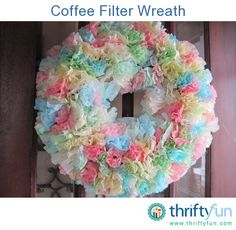 This guide is about making a coffee filter wreath. Coffee filters are a flexible craft material for a number of projects.