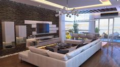 wall designs paint and Elftug Stone Feature Wall Design Interior in Modern Living Room Used White Sofa Furniture Decoration-Ideas Rooms Home Decor, Home Decor Furniture, Living Room Decor, Living Rooms, Sofa Furniture, Living Area, Furniture Ideas, Modern Furniture, Furniture Design