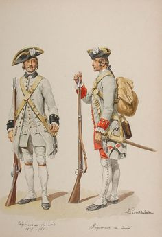 bantarleton:   18th century French soldiers. - Dandy & Glory
