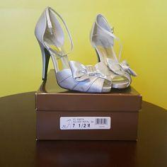 Silver Heels Silver heels Audrey Brooke Shoes Heels