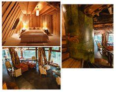 Hotel Montaña Mágica Com as paredes externas cobertas por pedras vulcânicas, o interior é basicamente feito de madeira