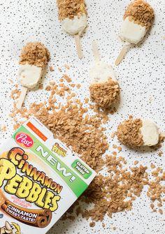 Cinnamon Latte Cereal Popsicles - Walmart Recipes - Ideas of Walmart Recipes - Cinnamon Latte Cereal Popsicles Post Cinnamon Pebbles Delicious Desserts, Dessert Recipes, Yummy Food, Party Desserts, Dessert Bars, Walmart Recipes, Coctails Recipes, Healthy Summer Recipes, Winter Recipes
