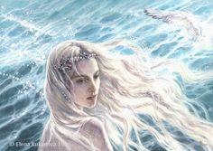 The Swan-Maiden of Alqualonde by EKukanova.deviantart.com on @DeviantArt