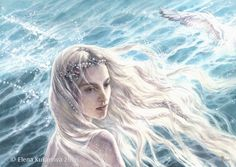 The Swan-Maiden of Alqualonde by EKukanova.deviantart.com on @DeviantArt