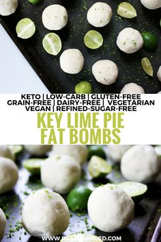 If you are looking for Keto snack ideas or Keto desserts, Keto fat bombs are the perfect low carb dessert! These 65 insanely delicious keto fat bombs are sure to have you enjoying your next keto approved snack! Vegan Keto, Dieta Vegan, Vegetarian Keto, Vegetarian Desserts, Key Lime Pie, Low Carb Desserts, Low Carb Recipes, Dessert Recipes, Donut Recipes