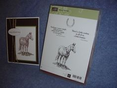 stampin up HORSE FRONTIER-horseshoe-masculine-outdoors-lot + card #StampinUp