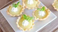 These cute tarts have a homemade minty lime filling reminiscent of a refreshing mojito.