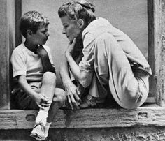 Katharine Hepburn and Gaetano Autiero on the set of David Lean's SUMMERTIME (1955)