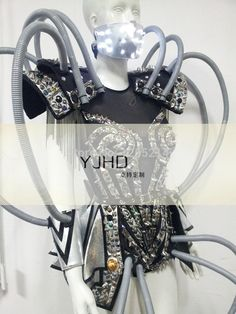 LED luminous / illuminated/ glowing dance robot costumes/ suits for men Halloween Mardi Gras / Carnival science fiction movie