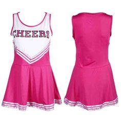 Fashional Cheerleager Uniform Girl Outfit Fancy Dress, Sleeveless Tank Top Mini Skirt - deal tips Cheerleader Costume Kids, Cheerleading Outfits, Cheer Outfits, Red Summer Dresses, Sexy Dresses, School Girl Outfit, Girl Outfits, Top Mini, Sexy Costumes For Women