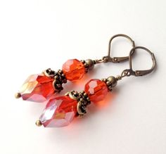 Beaded earrings - would look awesome with the blue beads I just got