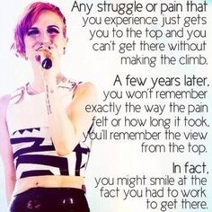 hayley williams wants you to stay alive, be happy & push through bad stuff in life and thats really important