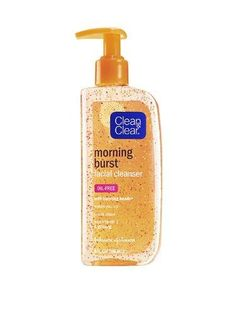 Clean & Clear Morning Burst Facial Cleanser with Bursting Beads, 8-Ounce Pump Bottle***Size: Pack of 1.Bursting Beads,Oil-Free,Vitamin C & Ginseng,Wakes you up,Rinses clean,.
