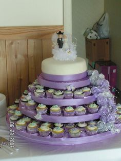 This is too fussy and frilly, but it is sweet with the cowboy hat groom